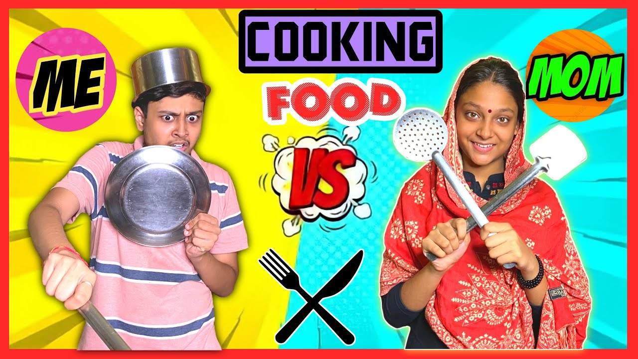 Cooking Food: Me Vs. Mom 🤣| Laugh With Harsh | Comedy Video