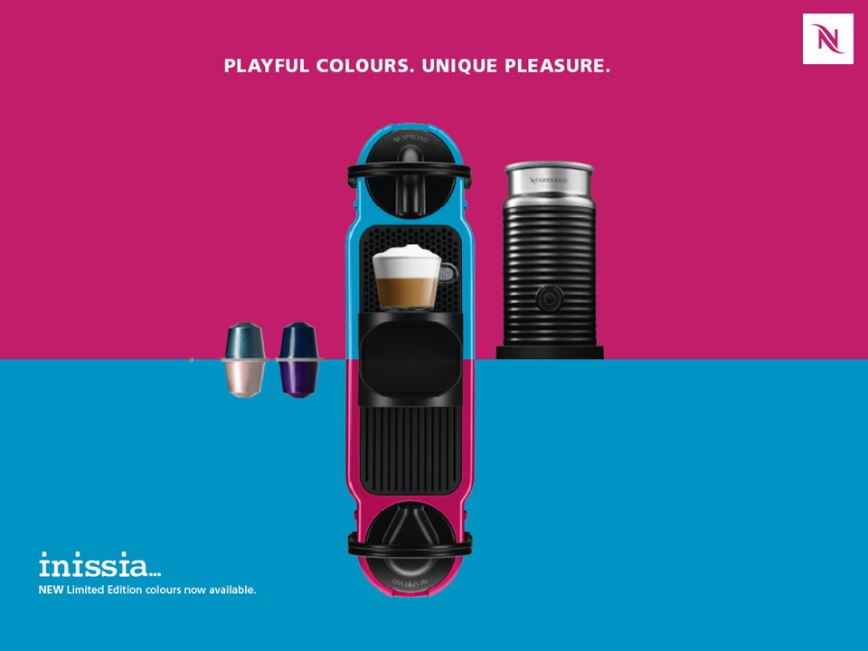 Nespresso Inissia. Playful Colours. Unique Pleasure. - YouTube