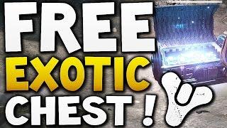 Destiny - FREE EXOTIC CHEST VoG HARD CHEST LOBBY !!!