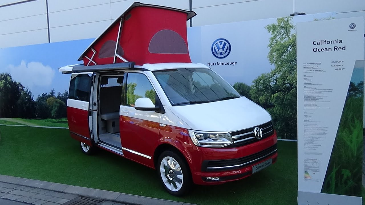2017 volkswagen california ocean red exterior and. Black Bedroom Furniture Sets. Home Design Ideas