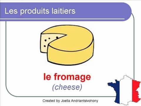 French Lesson 27 - DAIRY PRODUCTS Food Vocabulary - LES PRODUITS LAITIERS - Lácteos en francés