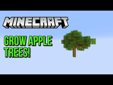 Minecraft How To Grow Apple Trees Perfectly Easy! - Tutorial