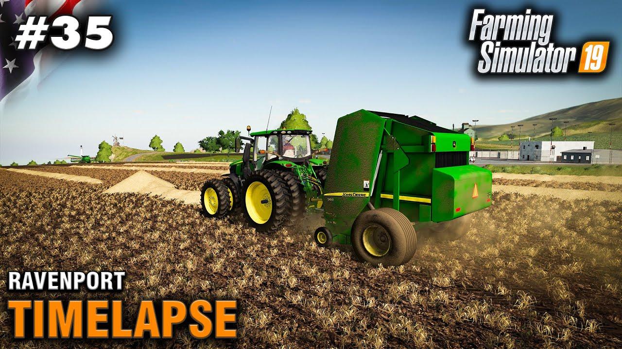 FS19 Timelapse Ravenport #35 Big Straw Bales - Самые лучшие видео