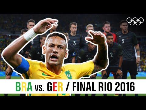 🇧🇷 Brazil Vs. 🇩🇪 Germany - Men's ⚽ Football Final Rio 2016!