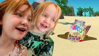 BACK to SCHOOL - TiME CAPSULE!!  Burying a treasure for future Adley & Niko! family DIY kids crafts