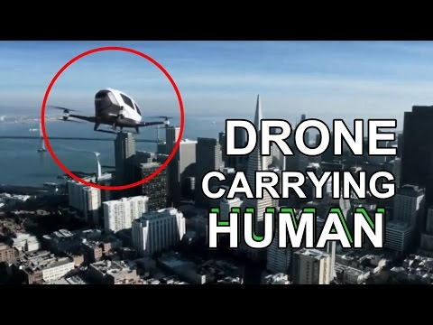 🚀 Fliegendes Auto ★ Drone Carrying Human ★ Flying Car Breaking Technic News Scifi goes Real