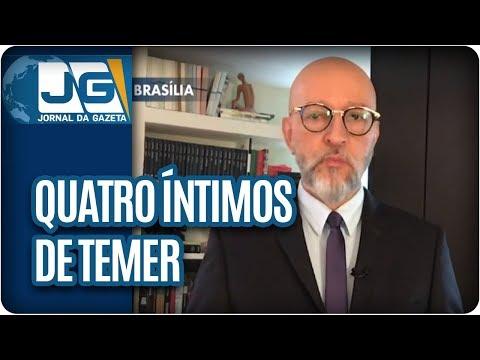 Josias de Souza/Com Moro, quatro íntimos de Temer