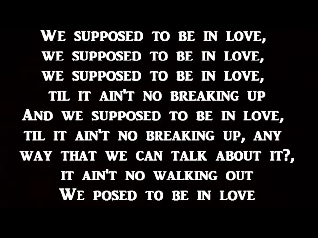 Kevin Gates - Posed To Be In Love Lyrics