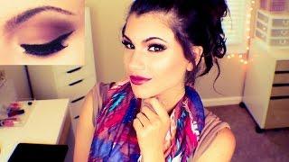 fall makeup tutorial   warm smokey eye berry lips