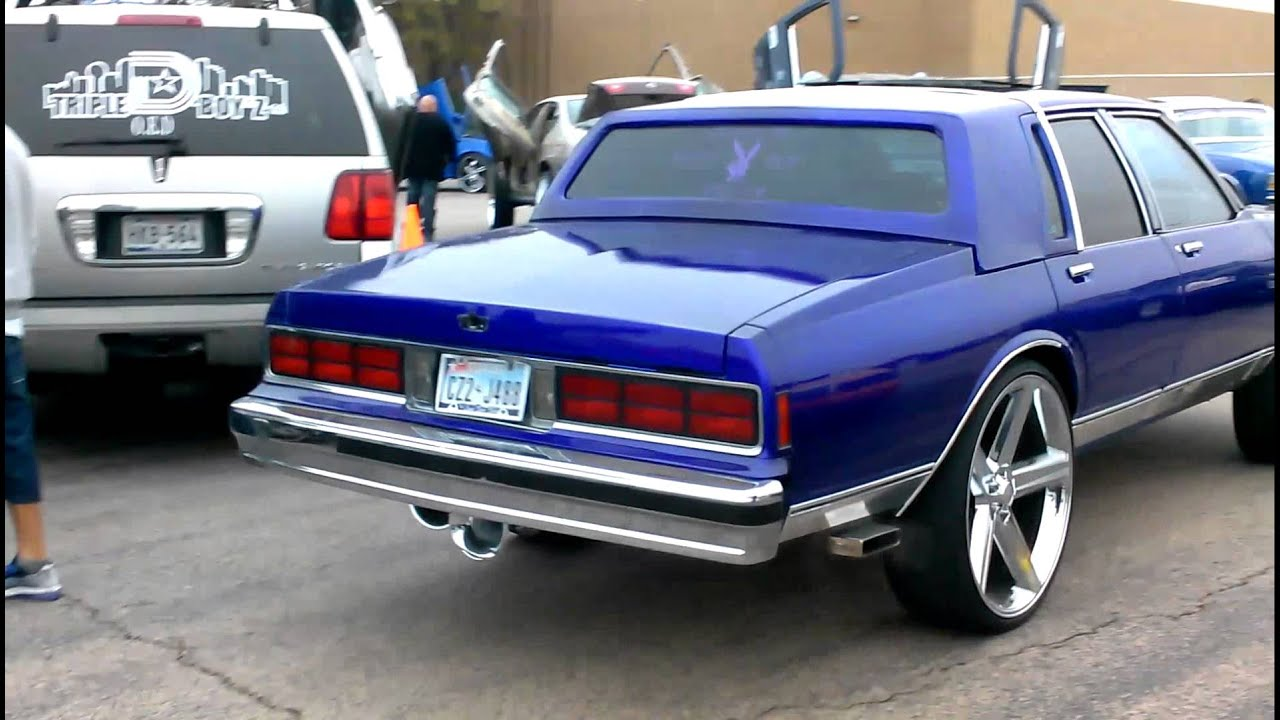 Box Caprice on 26s Irocs Beatin #Tk Ridaz car show - YouTube
