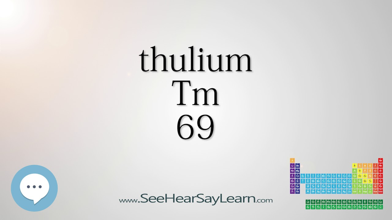 Thulium periodic table of elements youtube thulium periodic table of elements gamestrikefo Gallery