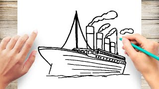 How to Draw the Titanic Step by Step