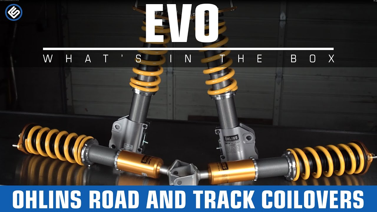 Ohlins road track coilovers 03 06 mitsubishi evo 8 9 what s in the box youtube