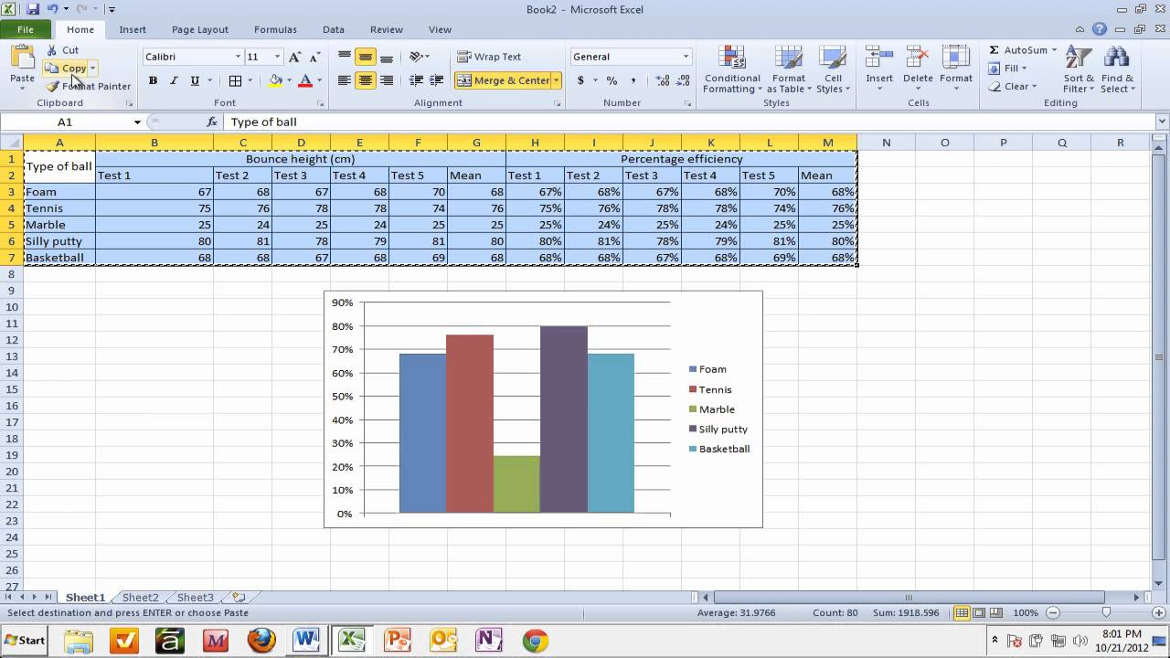 Copy this graph from a PDF into Word