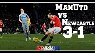 Manchester United vs Newcastle United 3-1 (HD)