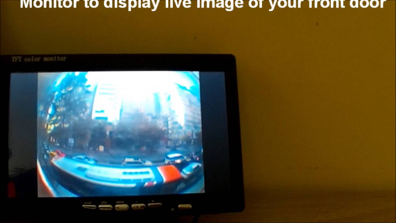 Easy DIY Detachable Door Camera With LCD Monitor For Home Saftey