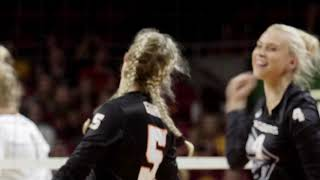 Oregon State Volleyball: Highlights vs Iowa State