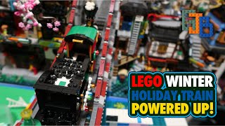 Powered Up! LEGO Winter Holiday Train Motorized with New Components!