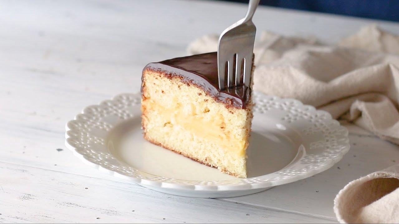 Best Boston Cream Pie With Caramel Eggnog