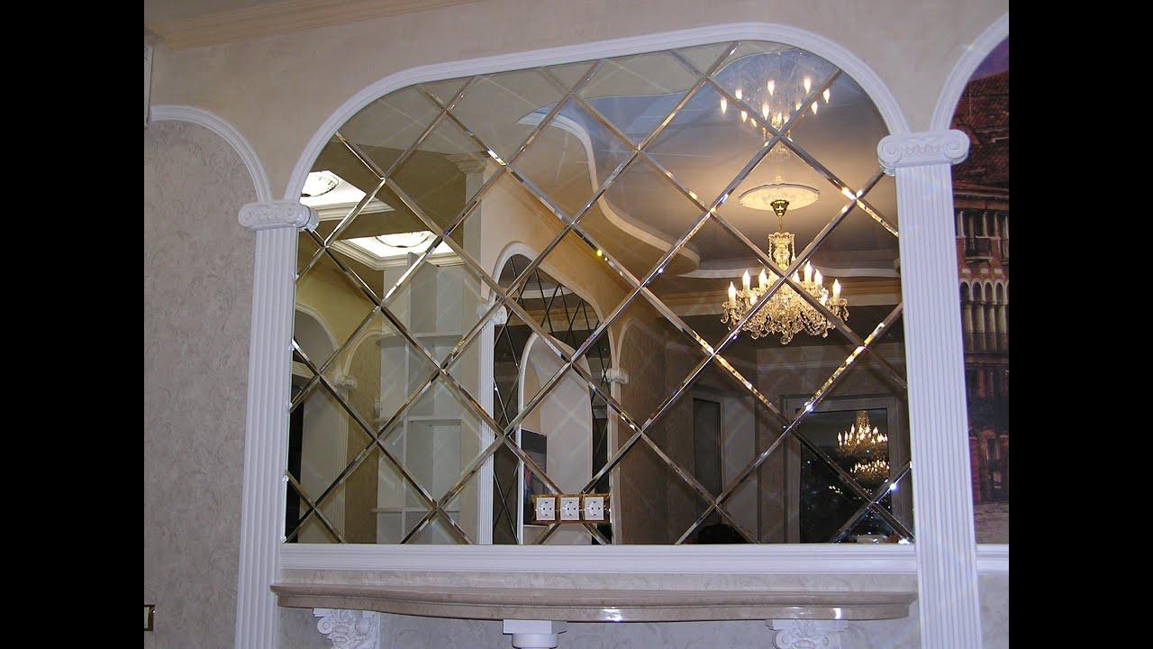 Часы настенные зеркальные diy сделай сам с римскими цифрами .