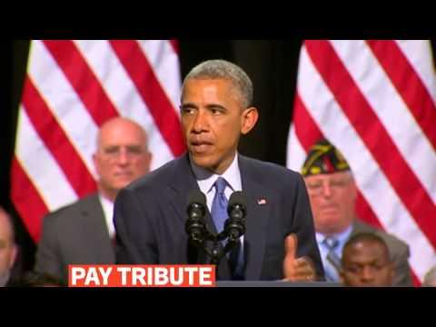mitv - Obama pays Tribute to Major General Harold Greene killed in Afghanistan