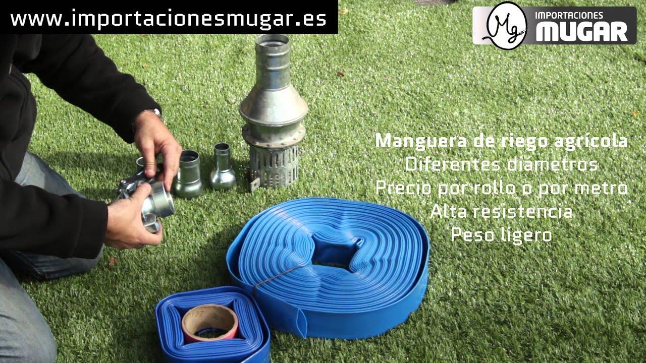 Tipos de mangueras iv plana para riego agr cola con for Manguera de jardin 1 2