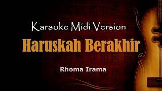 Haruskah berakhir | Karaoke musik Version Keyboard + Lirik tanpa vokal