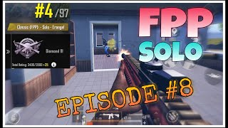 FPP SOLO RANK PUSH | Episode #8 - Some Early game strategy | PUBG MOBILE