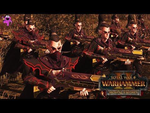 Skirmish in the Shade - Dark Elves vs. High Elves - Total War Warhammer 2 Mortal Empires Gameplay