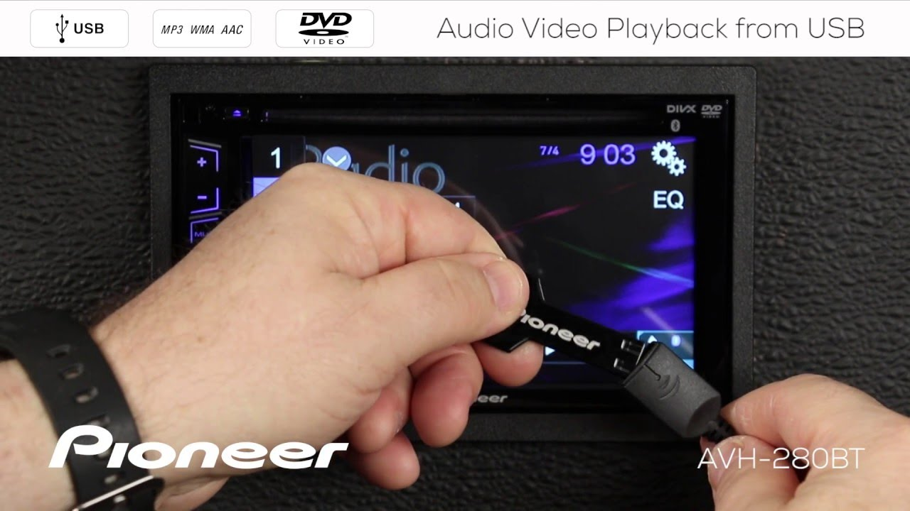 How To - AVH-280BT - Audio and Video Playback from USB