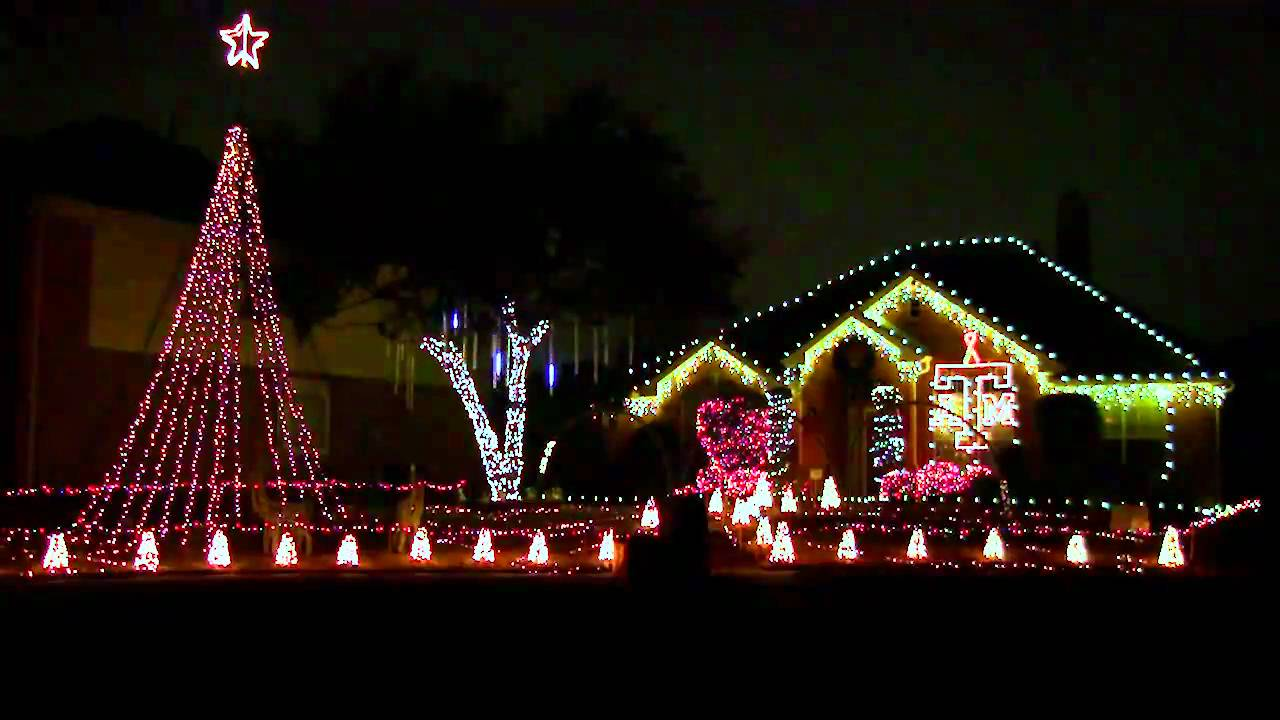 Christmas Lights Texas A Amp M Aggie War Hymn Frisco Tx