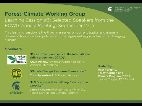 Selected Speakers from the FCWG Annual Meeting, September 27th