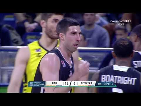 Dimitrios Flionis (#7 Yellow Jersey, 8 Pts, 8 Rbs, 3 St) Aris - Beşiktaş, Champions League