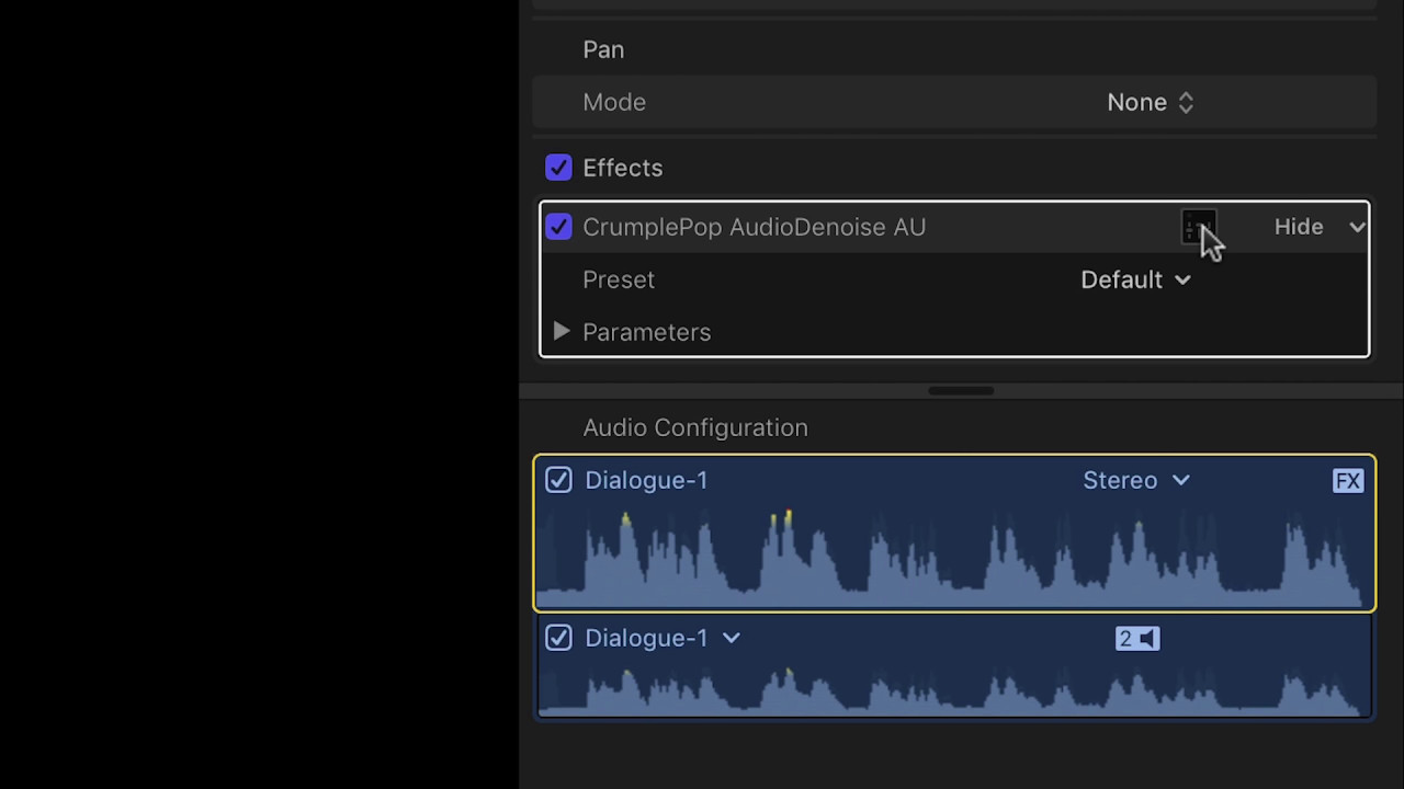 Remove Audio Noise in Final Cut Pro X