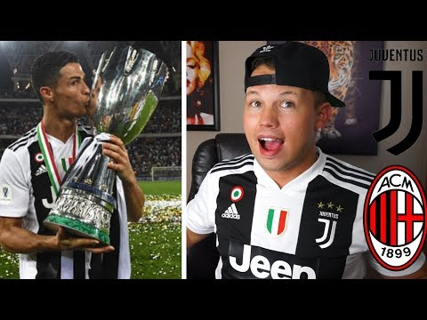 Cristiano Ronaldo Header WINS Supercoppa | Juventus vs. AC Milan