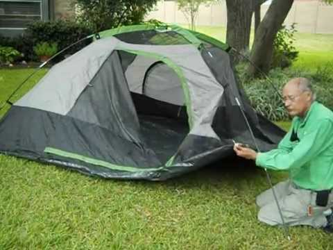 Ten Minute Tent Quick Build Boulder Creek 9x8 Family C&ing Tent  1445 - YouTube  sc 1 st  YouTube : boulder creek hiker 2 dome tent - memphite.com