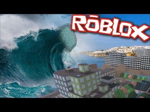 TSUNAMI IN ROBLOX!! Roblox