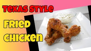 Texas Style Fried Drumsticks with White Gravy