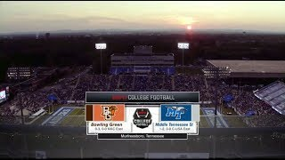 NCAAF: Bowling Green at Middle Tennessee - September 23, 2017
