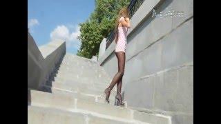 Nonna   Victorias Secret Glossy Smooth лосины, колготки, жестко, блондинка, куни, анал, слюни, чулка