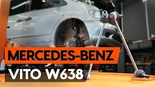 Installazione Asta puntone stabilizzatore posteriore e anteriore MERCEDES-BENZ VITO: manuale video