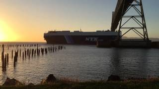 Pilot Boat and Cargo Ship  -  Astoria, OR