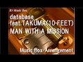"database feat.TAKUMA(10-FEET)/MAN WITH A MISSION [Music Box] (Anime ""Log Horizon"" OP)"
