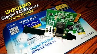 UNBOXING LAN Card Gigabit PCI Express Network Adapter TP-Link TG-3468