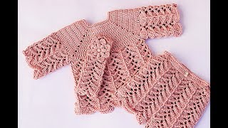 Pants set with jersey very easy Majovel crochet