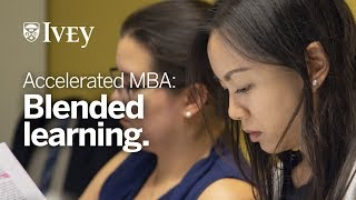 Accelerated MBA for Business Graduates: Blending Learning