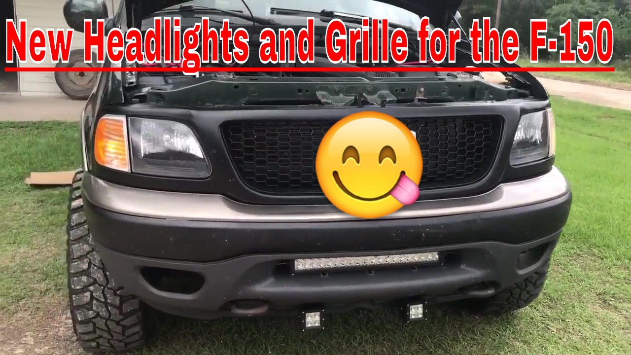 2003 F 150 New Grille And Headlight Install Youtube