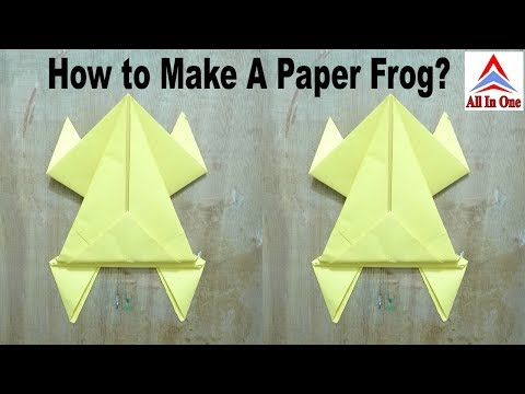 How to Make a Paper Frog?   कागज़ का मेंढक   Jumping Frog   Paper Frog Craft   Origami   All In One