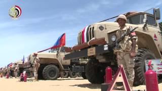 """""""الشؤون المعنوية"""" تعرض فيديو لمشاركة وزير الدفاع فى تفتيش لأحد تشكيلات الجيش الثانى"""