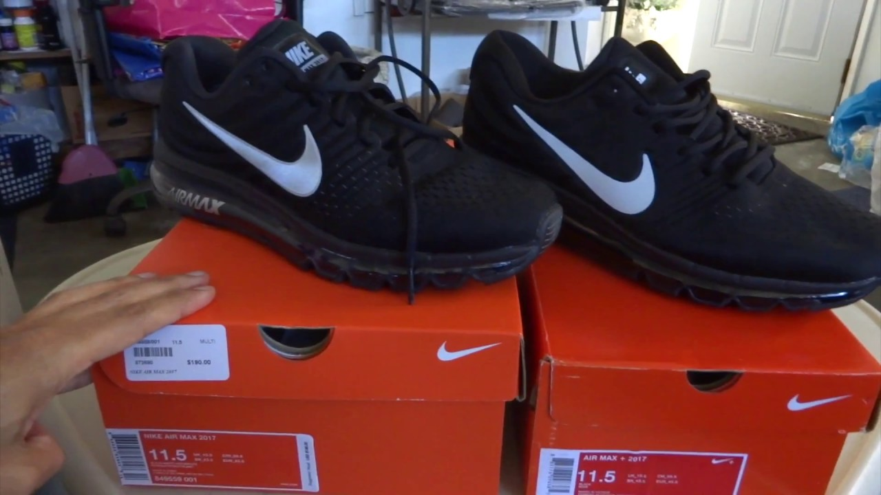 e8423780ffad NIKE AIR MAX 2017 ((REAL VS FAKE)) - YouTube